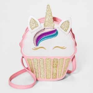 Girls Unicorn Cupcake Crossbody Bag